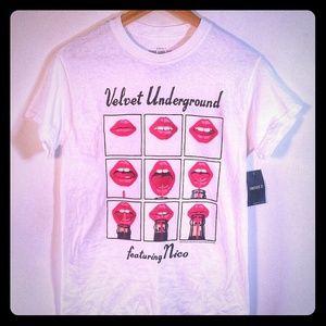 Velvet Underground Nico T-Shirt Lips Size S